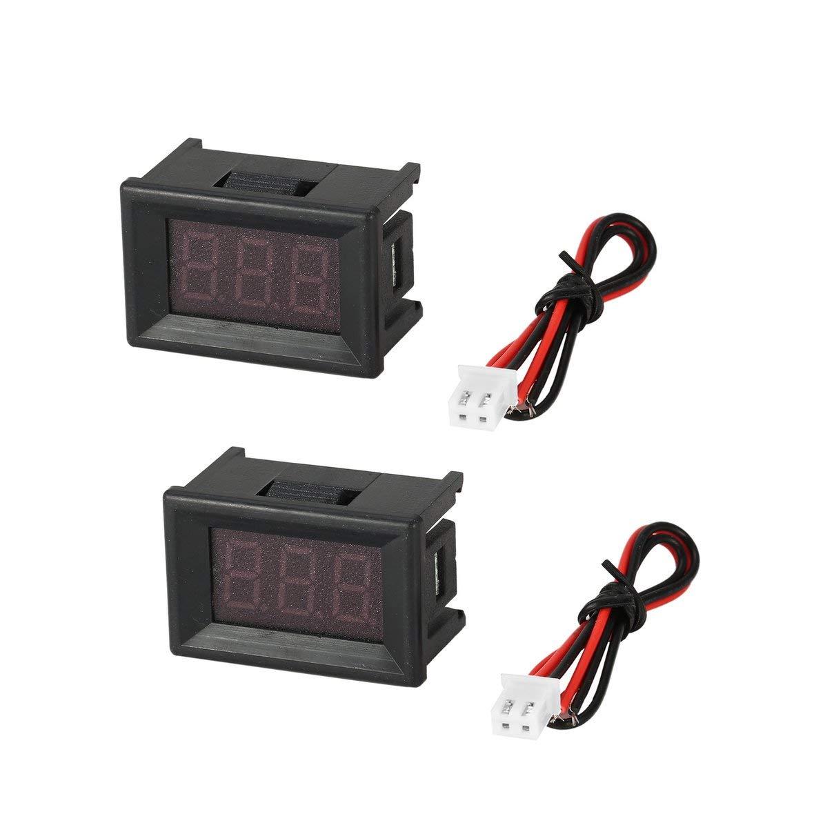 2 UNIDS 2.5-30 V 0.36 pulg 2 LED Panel de Pantalla Digital Volt/ímetro Medidor de Voltaje El/éctrico Volt Tester Auto Bater/ía de Coche Motocicleta