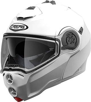 Caberg Droid Motorrad Klapp Helm Weiß Metallic Sonnenblende Pinlock Integral Jet, C0HA00A5, Größe XS