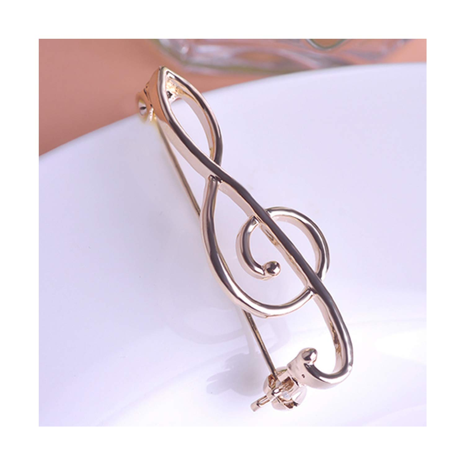 Simple Music Note Brooches For Women Men Jewelry Gold color Brooch Dress Accessories