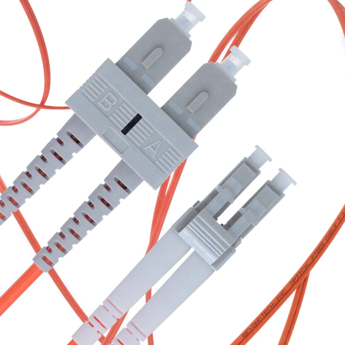 LC to SC Fiber Patch Cable Multimode Duplex - 25m (82ft) - 50/125 OM2 - Beyondtech PureOptics Series