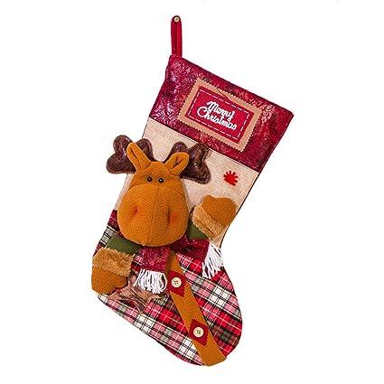 Sylar Calcetines De Navidad Bolsa De Regalo Decoración De Navidad Papá Noel Muñeco De Nieve Elk
