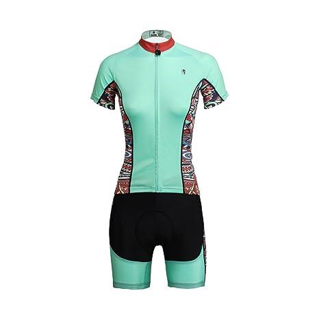 TSSM Jersey de Ciclismo, Traje para Mujer, de Manga Corta ...