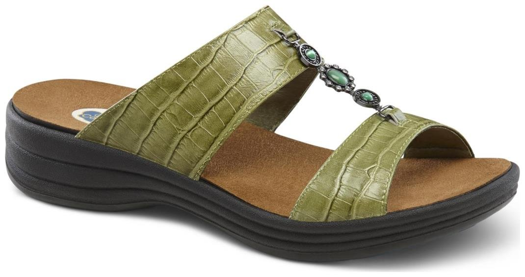 Dr. Comfort Women's Sharon Green Sandals