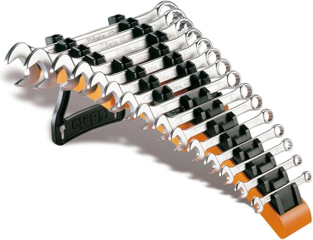 Juego de 9 llaves combinadas con carraca articulada con soporte compacto Beta 142SN//SC9