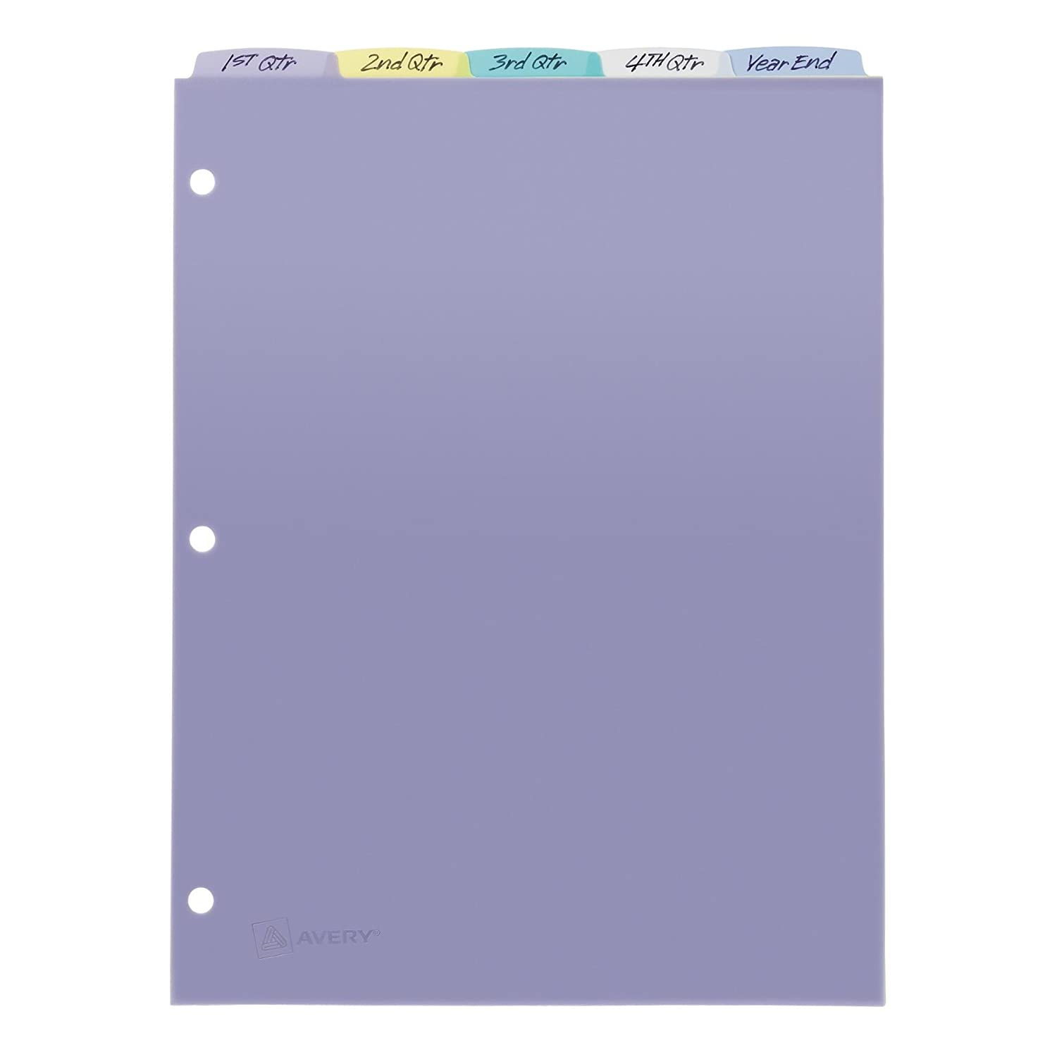amazon com avery top tab durable write on dividers 9 x 11 inches