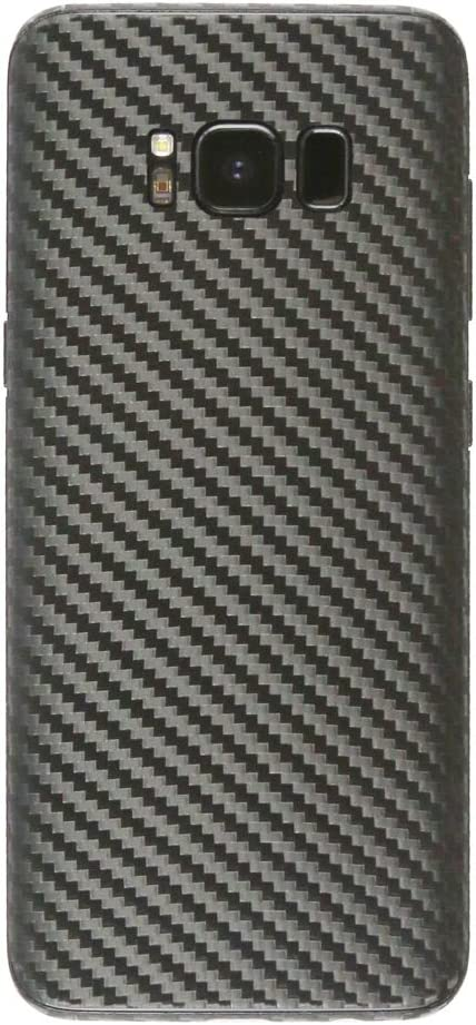 Armorsuit MilitaryShield Black Carbon Fiber Skin Wrap Film HD Clear Screen Protector for Samsung Galaxy S8 Anti-Bubble Film