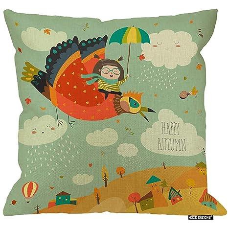 Marlon Kitty Funda de Almohada de otoño, Fantasy Little Girl ...