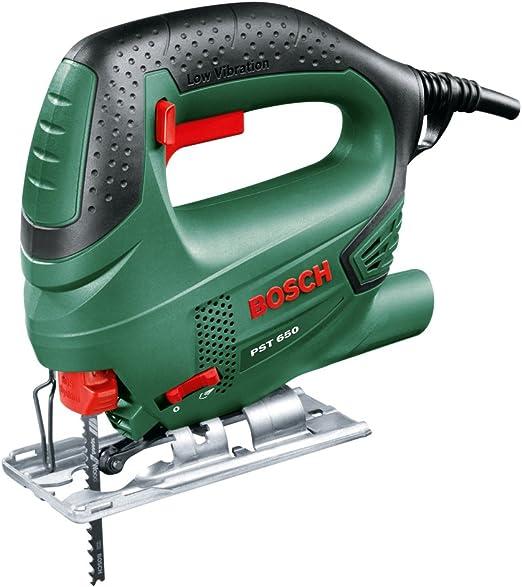 Scie sauteuse filaire Bosch - PST 650 (500W, livrée avec coffret de rangement et 1 lame de scie pour bois T144D)