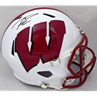 $449 » Russell Wilson Autographed Wisconsin Badgers Full Size Speed Helmet RW Holo
