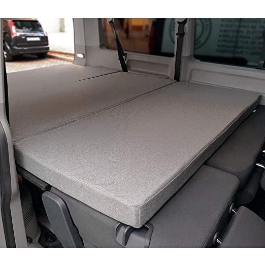 KFoam.es Colchón Plegable con Viscoelástica para Volkswagen T5, T6, Multivan, California Beach y Caravelle 185x148x6 cm: Amazon.es: Hogar