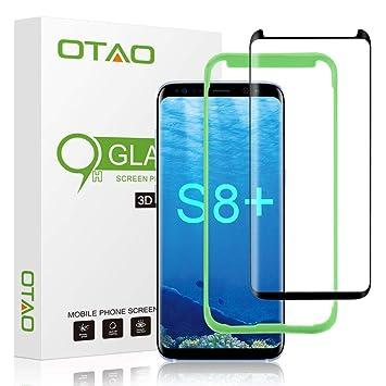 OTAO [Tray Installation] Samsung Galaxy S8 Plus Screen Protector,  [Case-friendly] Tempered Glass Screen Protector with Positioner for Galaxy  S8 Plus