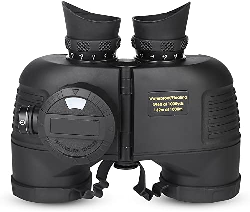 7×50 Marine Binocular,Tactical Binocular Compass Binoculars Handheld Waterproof Night Vision Binocular