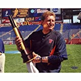 NCAA John Desko with 2008 Lacrosse Championship Trophy Autographed 8-by-10-Inch Photograph