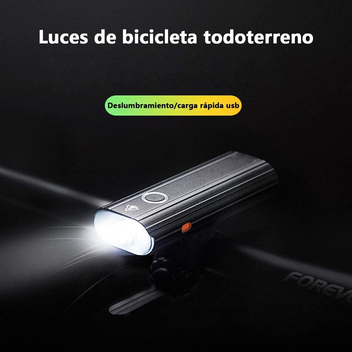 Leynatic Luz Bicicleta, Luces Bicicleta Recargable USB, Lámpara ...