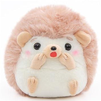 Pequeño erizo de peluche crema claro marrón rosa Harin the Hedeghog de Japón