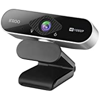 IFROO FHD 1080P Webcam with Microphone,No fisheye Wide-Angle for Desktop Laptop Computer Web Camera,USB Plug and Play…