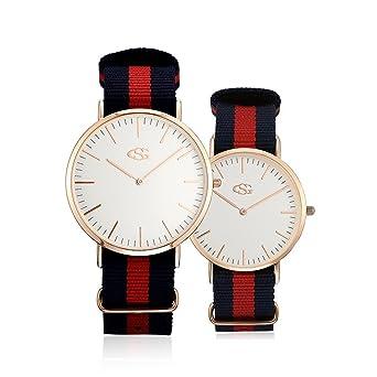 fca076f6157c G&S 人気 ペアウォッチ ユニセックス クォーツ 時計 カップル 腕時計 恋人 クラシック ウォッチ 超薄型