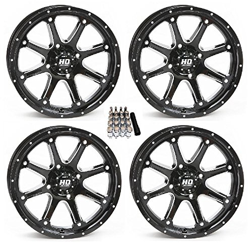 STI HD4 UTV Wheels//Rims Black 15 Polaris RZR 1000 XP//Ranger XP 900//1000