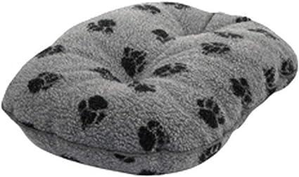 Danish Design Fleece Grey Paw Quilted Mattress 24-61cm