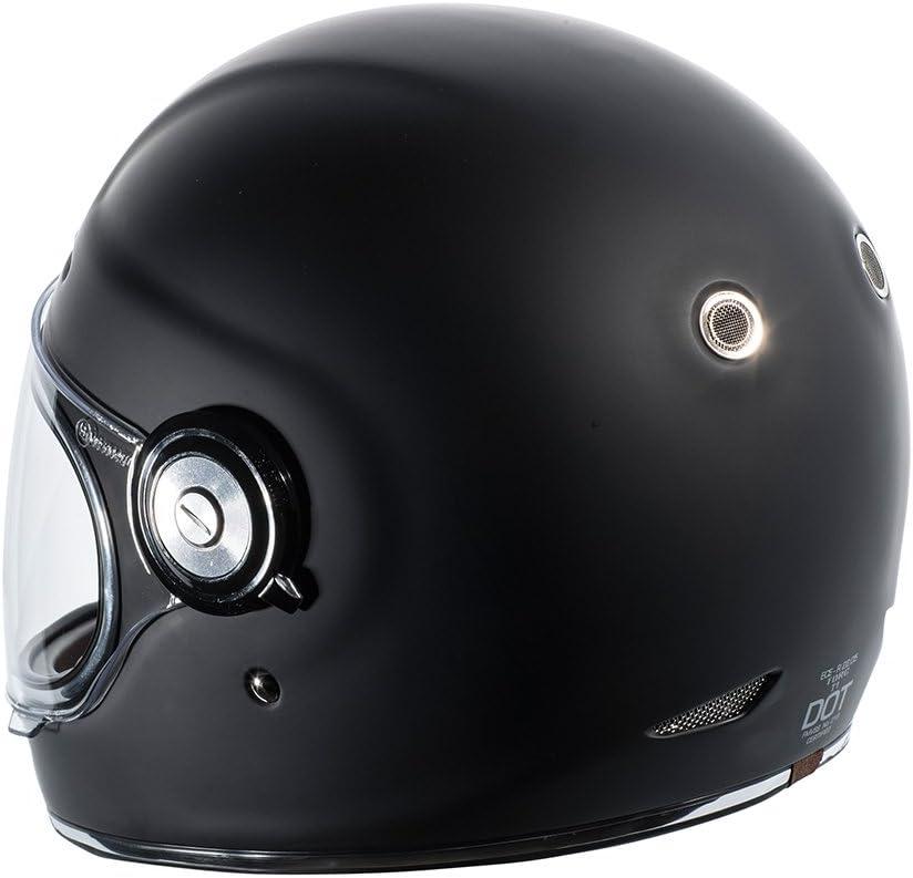 Matte Black, Medium TORC T1 Unisex-Adult Retro Full-face-Helmet-Style Motorcycle