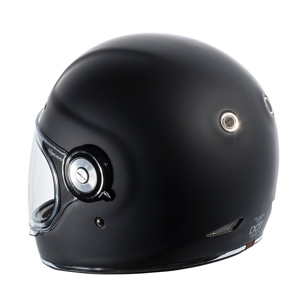TORC Unisex-Adult T11523 Retro Fiberglass Full-Face Style Motorcycle Helmet (Matte Black, Medium), 1 Pack by TORC (Image #3)