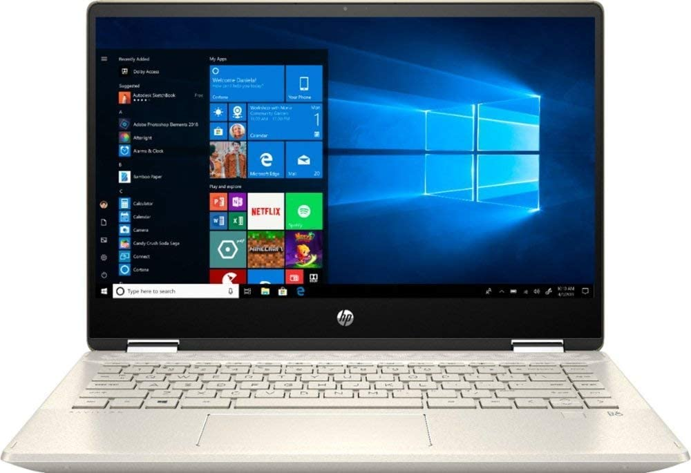 "2020 HP Pavilion x360 2-in-1 Laptop Computer/ 14"" Full HD Touchscreen/ 10th Gen Intel Core i5-10210U Up to 4.1GHz/ 8GB DDR4 Memory/ 256GB PCIe SSD + 16GB Optane/ AC WiFi/ HDMI/ Gold/ Windows 10"