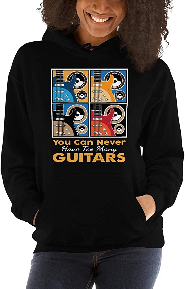 TEEPOMY Funny Music Gift Apparel You Can Never Have Too Many Guitars Unisex Hoodie