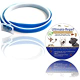 Pets Flea and Tick Collar, Flea Collar for Dogs, HYPOALLERGENIC, 6 Month NATURAL Protection, Stops Bites, Itching and Repels over 500 species of Pests, Blue in Color by Ultimate Repel