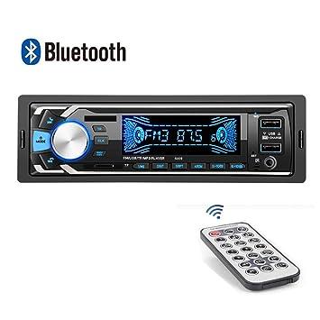 Fusutonus - Radio de Coche con Bluetooth, 12 V, 2 Puertos USB y ...