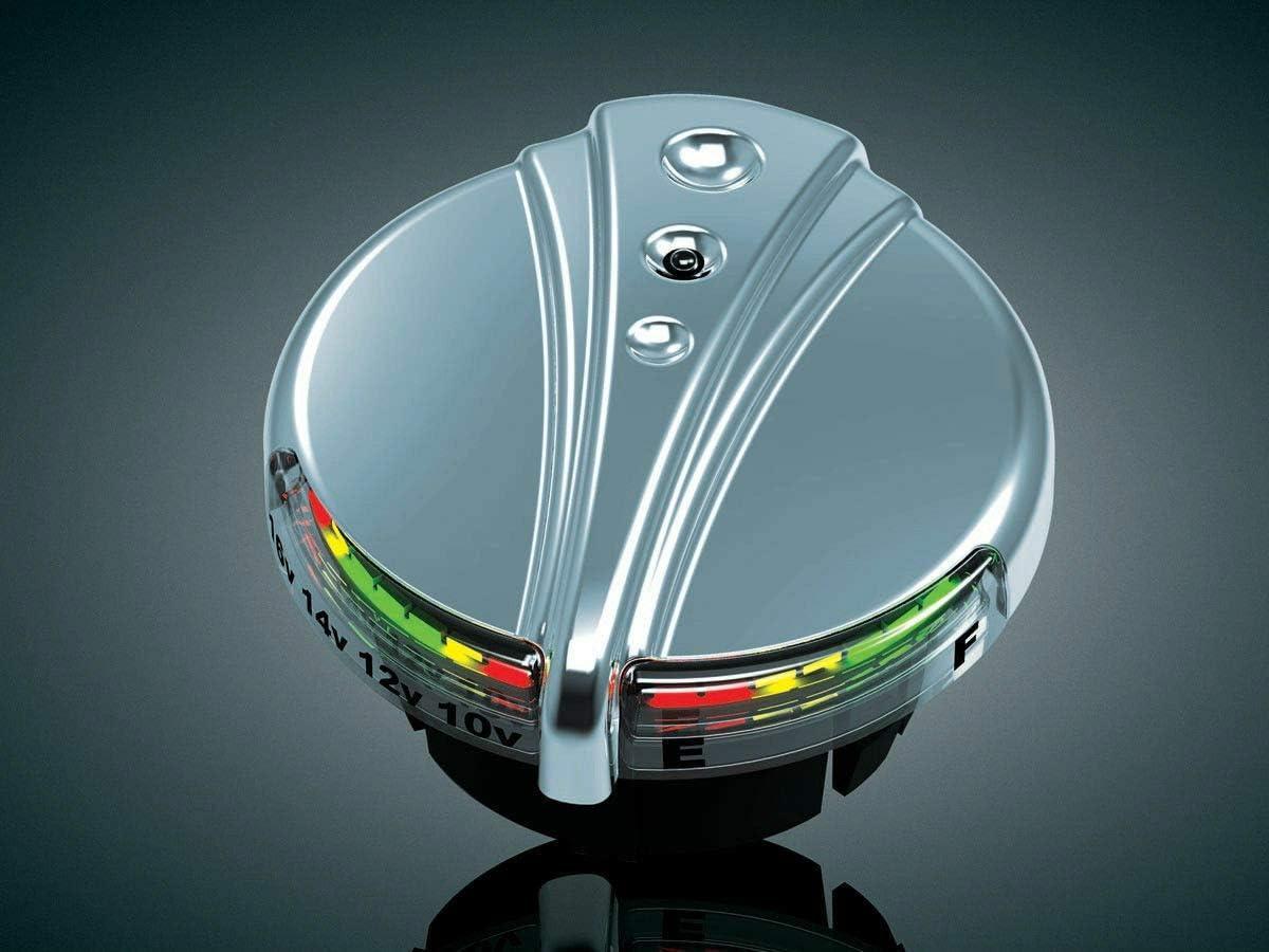 RPM Kuryakyn 7281 for Chrome Deco L.E.D Gas Cap Fuel Battery Gauge for Harley Davidson