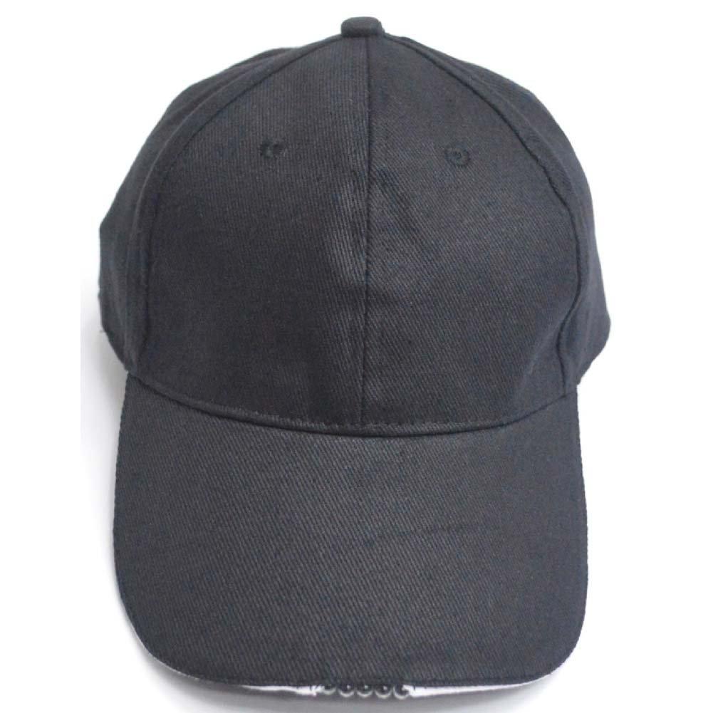 Lifeunion Five Ultra Bright Led Light Power Cap Hat Flashlight Head Lamp for Fishing Hunting Running (Black)