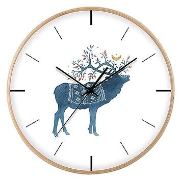 Relojes de pared Relojes Reloj Digital Redondo de 12 Pulgadas Reloj Creativo Cartas de Pared de Personalidad Personalidad Hogar Sala de Estar Cama Reloj ...