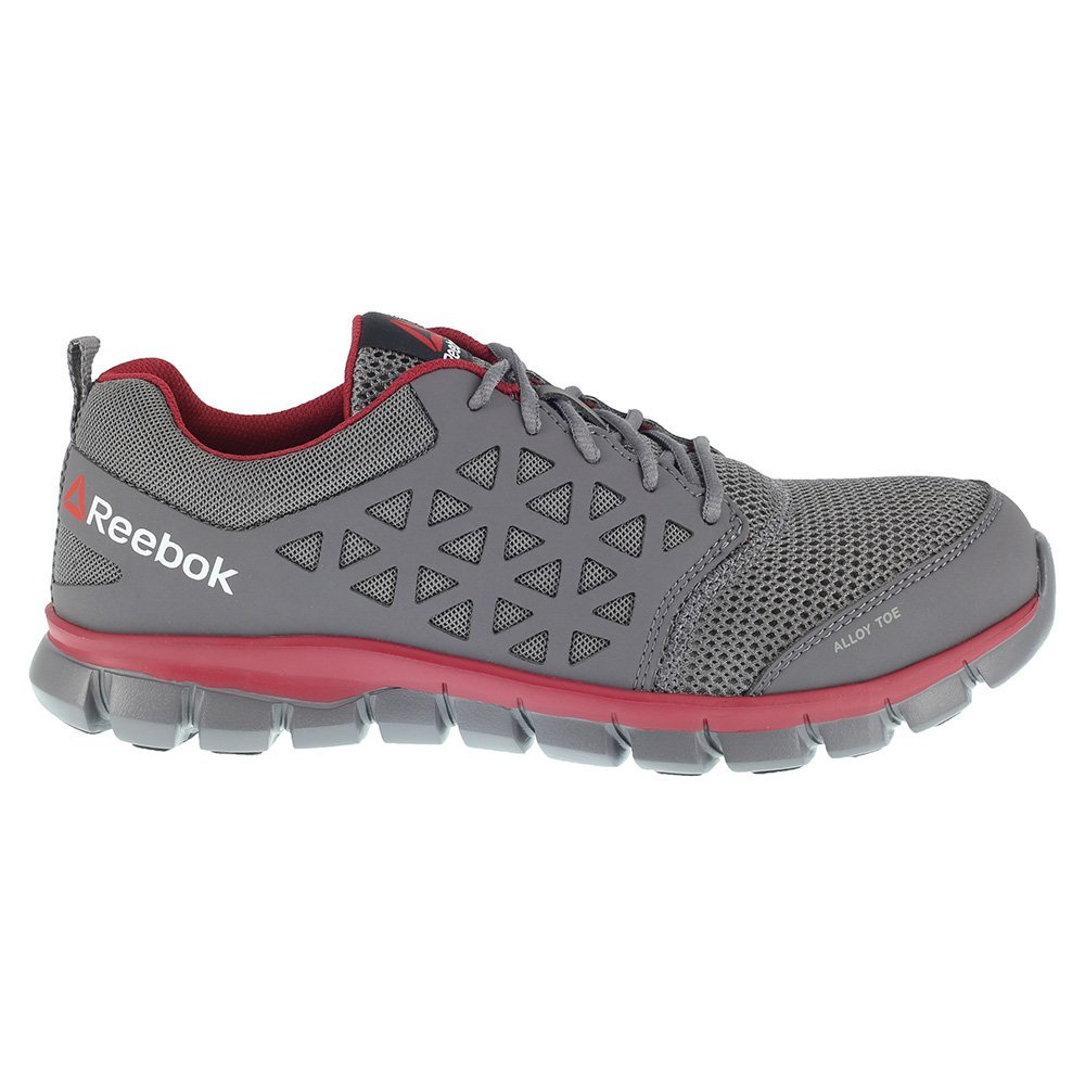 Reebok Work Mens Sublite Cushion Work EH Grey//Red Synthetic 14 D US D M