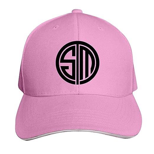 b1d3b55850789 Hyejizn Adult Peaked Cap,Cool Team SoloMid T-S-M Logo 3D Printed Baseball  Snapback Hats Mens