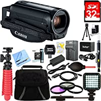 Canon VIXIA HF R82 Camcorder ( Black) Accessories Bundle - Includes Camcorder, Gadget Bag, 12-Inch Tripod, 32GB Memory Card, Power Battery/Charger Kit for Canon BP-727, 43mm Filter Kit & More