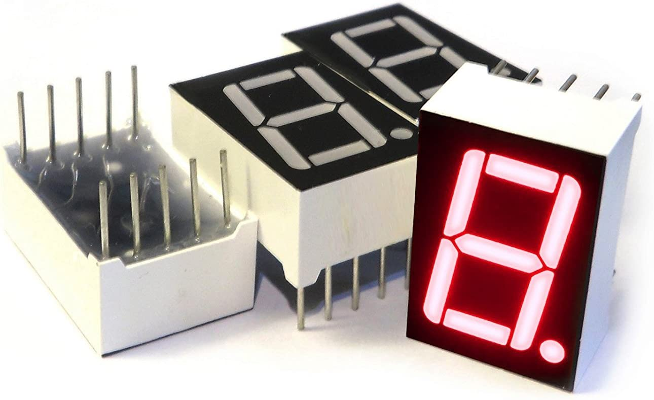 "10×Red 7 Segment 0.5/"" LED Display Digital Tube Common Cathode 1 Bit Digitron"
