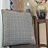 Shinnwa Wool Polyester Double-faced Same Design Tartan Decorative Throw Pillow Case Cushion Covers for Bed, Grey... sale off 2017
