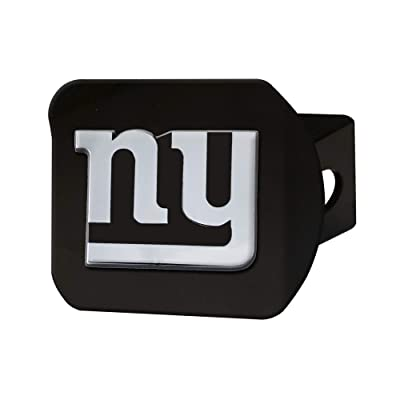 "FANMATS NFL New York Giants Metal Hitch Cover, Black, 2"" Square Type III Hitch Cover: Automotive"