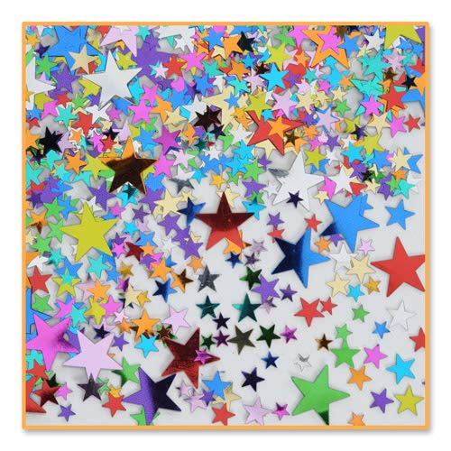 Beistle CN132 Pretty Party Stars Confetti, 1/2-Ounce
