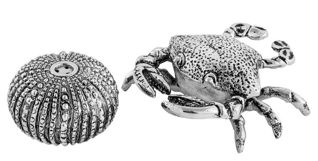 Christmas Tablescape Decor - Ocean crab and sea urchin design salt and pepper shaker set by Home Star