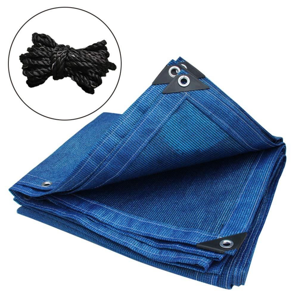 GXYAWPJ Ombrellone Net, Crittografia Protezione Solare Ispessimento Bordi Balcone Tetto Carport Rete da Giardino, Blu (Dimensioni   4×8m)