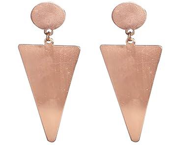 b5227fafc Buy AyA Fashion Designer Geomertical Pattern Bronze Color Earrings ...