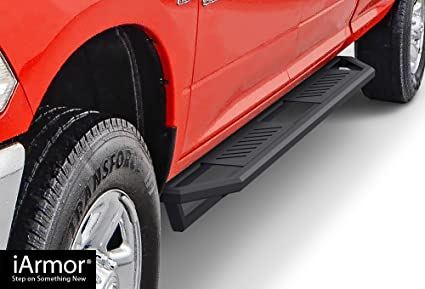 "FOR 2019 RAM TRUCK 1500 CREW CAB RUNNING BOARD 3/"" SIDE ROCK RAIL NERF STEP BAR"