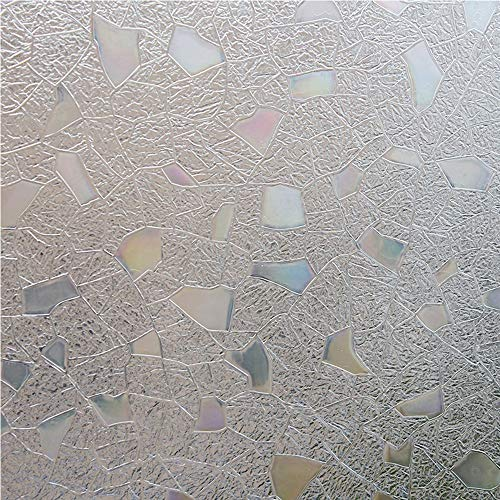 Bloss 3d No Glue Static Cling Window Film Decorative Frosted Privacy Window Films 17.7 Inch by 78.7 Inch by Bloss