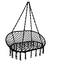 Hammock Swing Chair Double 2 Person Seat Hanging Chair Max Weight 150kg/330lbs Hanging Macrame Cotton Rope 2 Hanging…