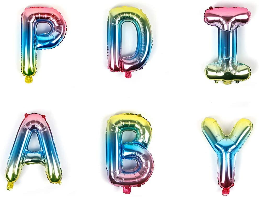 Rainbow Happy Birthday Banner Birthday Party Supplier Confetti Balloons for GILR Boys Party Decorations nuoshen 35 Pieces Happy Birthday Decorations