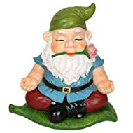 CCOQUS Zen Garden Gnome Statue,Yoga Gnome Figurine - Outdoor Lawn Patio Fairy Garden Decor