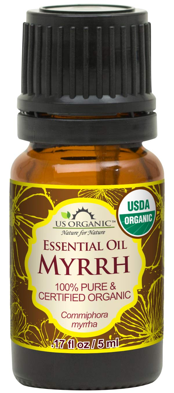 US Organic 100% Pure Myrrh (Commiphora myrrha) Essential Oil - Directly sourced from the Horn of Africa - USDA Certified Organic - Use Topically or in Diffuser - Suitable for All Skin Types (5 ml) by US Organic