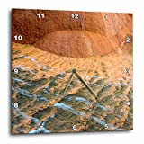 3dRose Danita Delimont - Abstracts - USA, Utah. Designs made by travertine deposits at Crystal Geyser. - 13x13 Wall Clock (dpp_260312_2)