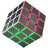 UWILD ® Nouveau autocollant de fibre de carbone de vitesse Version cube 3x3x3 pour lisse Magic Cube Puzzles